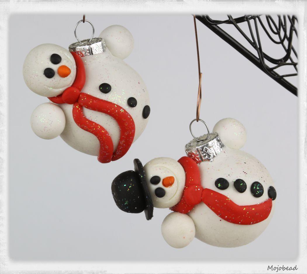 polymer clay christmas ornaments snowman   Polymer clay ...
