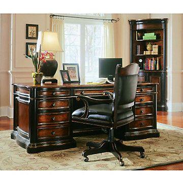 Preston Ridge Parquet Top Executive Desk And Chair Set
