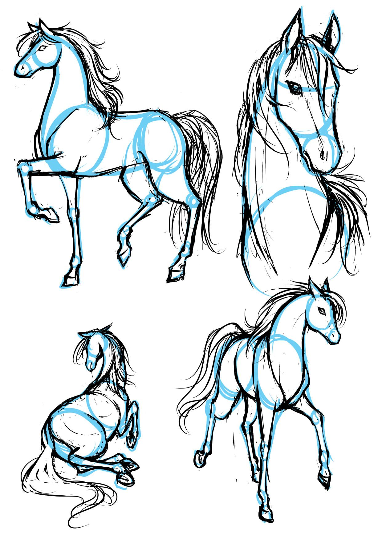 Drawing animals in manga letraset blog creative opportunities how to draw horse ccuart Image collections
