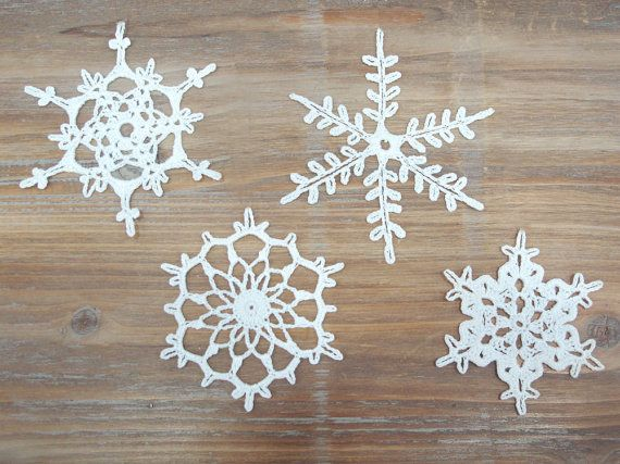 RESERVED Set of 16 Crochet Snowflakes christmas by katrinshine ...