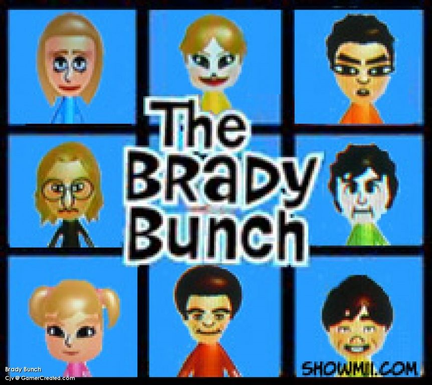The Brady Bunch created on the Wii