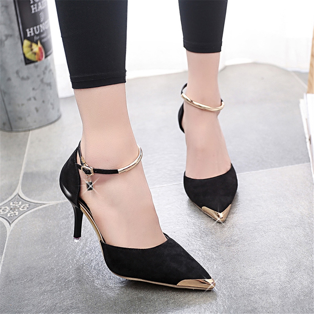 L YC Mujeres Zapatos Planos EN La Primavera con Side Zipper High Heel High Shoes Blanco Negro, Black, 39