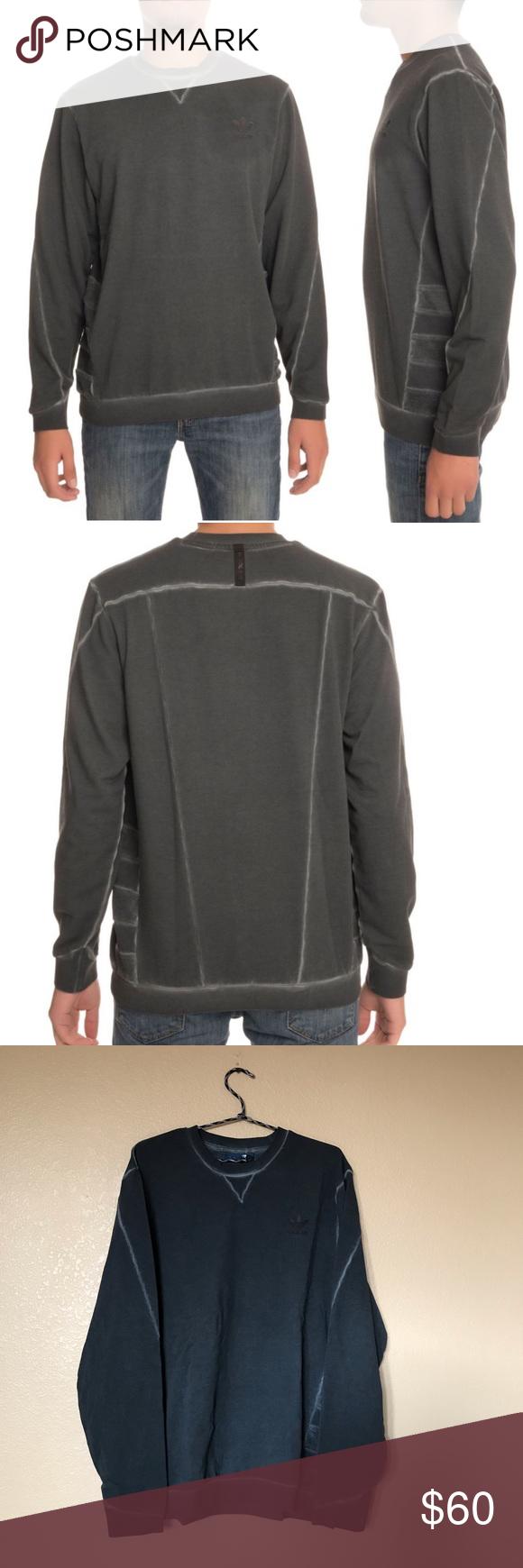 Adidas St Mod Dye Crewneck Sweatshirt Dark Gray Clothes Design Grey Crewneck Crew Neck Sweatshirt [ 1740 x 580 Pixel ]
