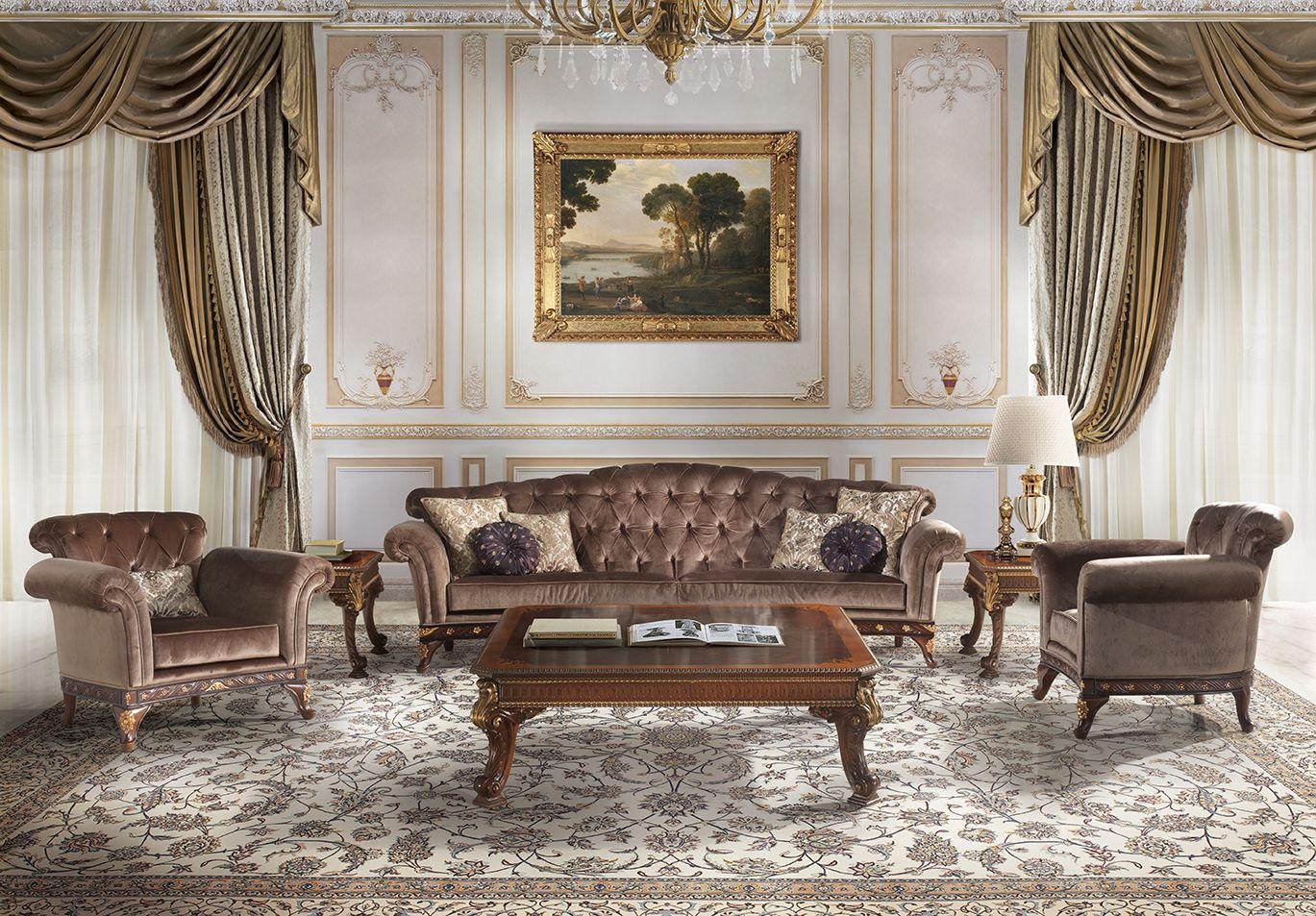 MANTOVANI italian classic luxury living room furniture   Sala, Deco, Tapicería