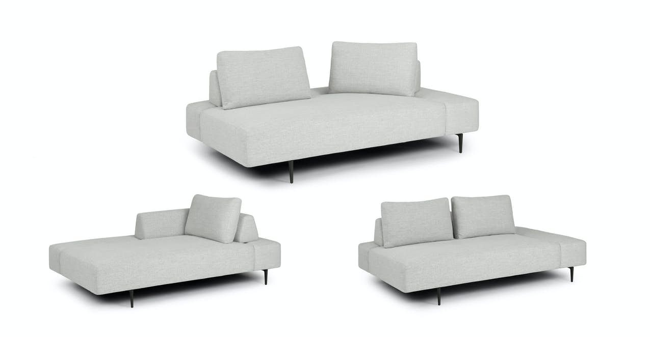 Divan Quartz White Daybed In 2020 Grey Daybed Daybed White Sofa Bed