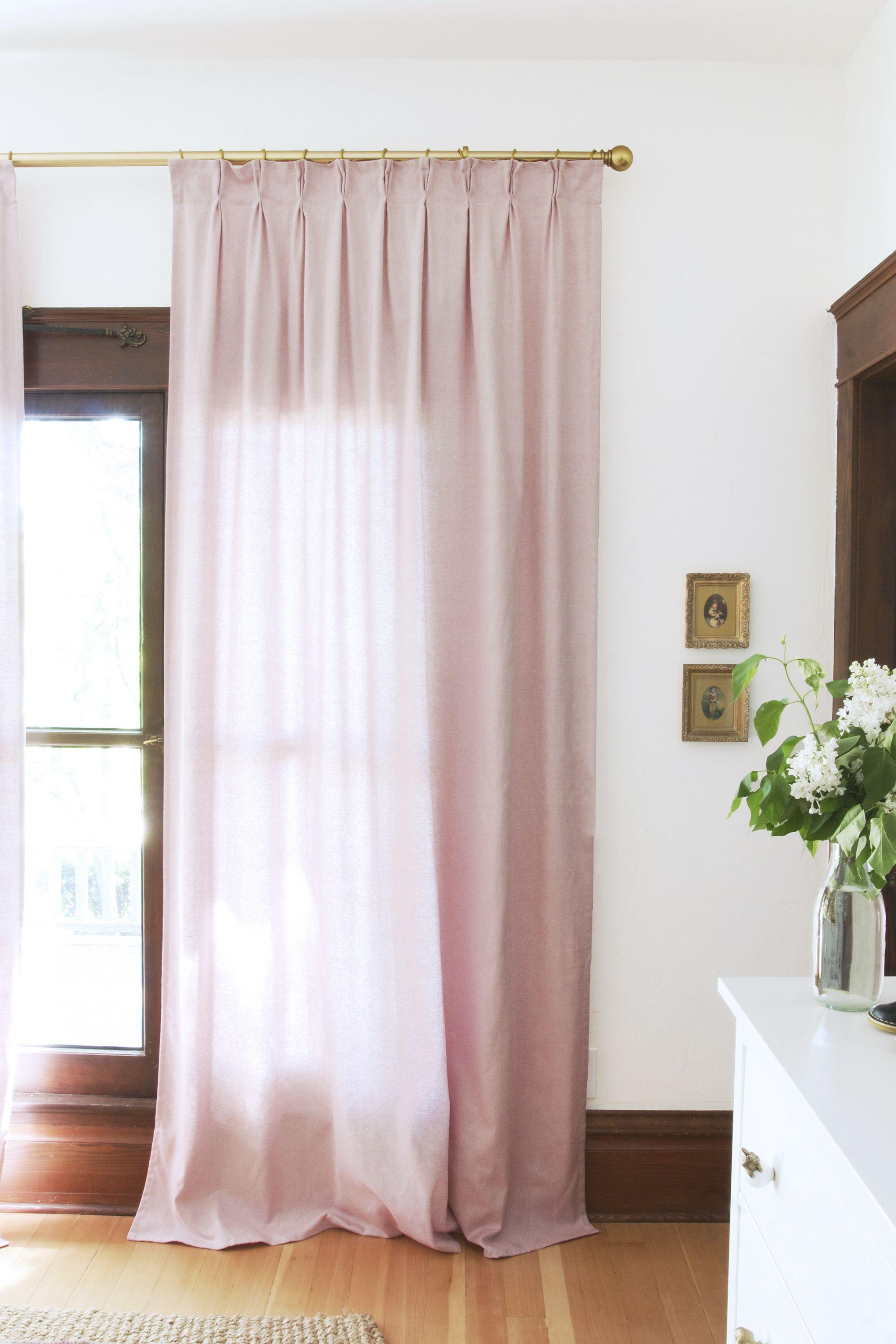 Diy Pinch Pleat Curtains How To Make Budget Ikea Curtains Look Like A Million Bucks Ikea Curtains Pinch Pleat Curtains Curtains