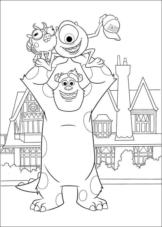Monsters Inc University Coloring Pages 10 Ausmalbilder
