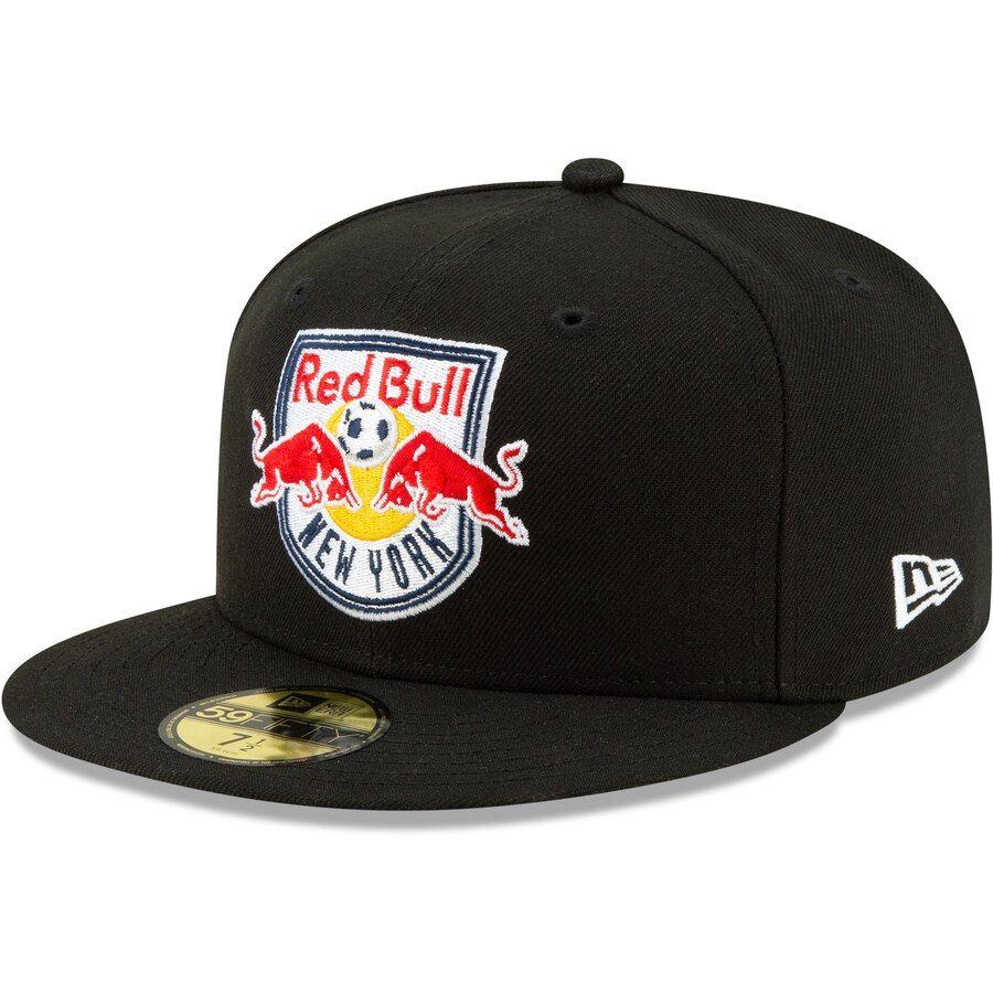 Mens new york red bulls new era black primary logo