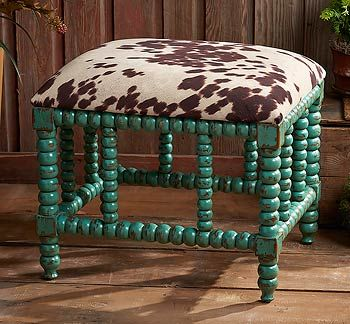 Astonishing 5907108201 Cowhide Turquoise Bench Products I Love Alphanode Cool Chair Designs And Ideas Alphanodeonline