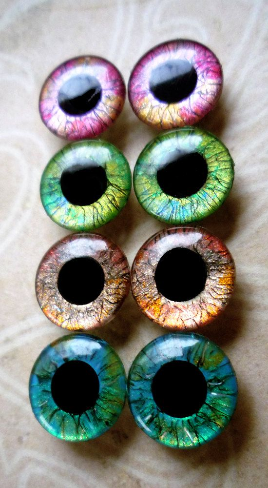 Handpainted Custom Blythe eyechips Fine Lines by ELFiciousShop, $15.00