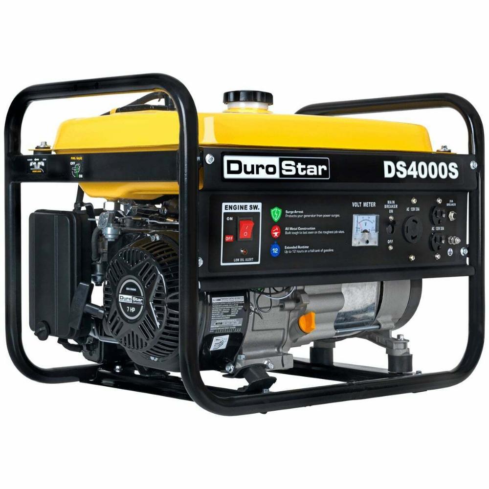 Durostar Ds4000s 4000 Watt 7 Hp Air Cooled Ohv Gas Engine Portable Rv Generator In 2020 Portable Generator Best Portable Generator Generator House