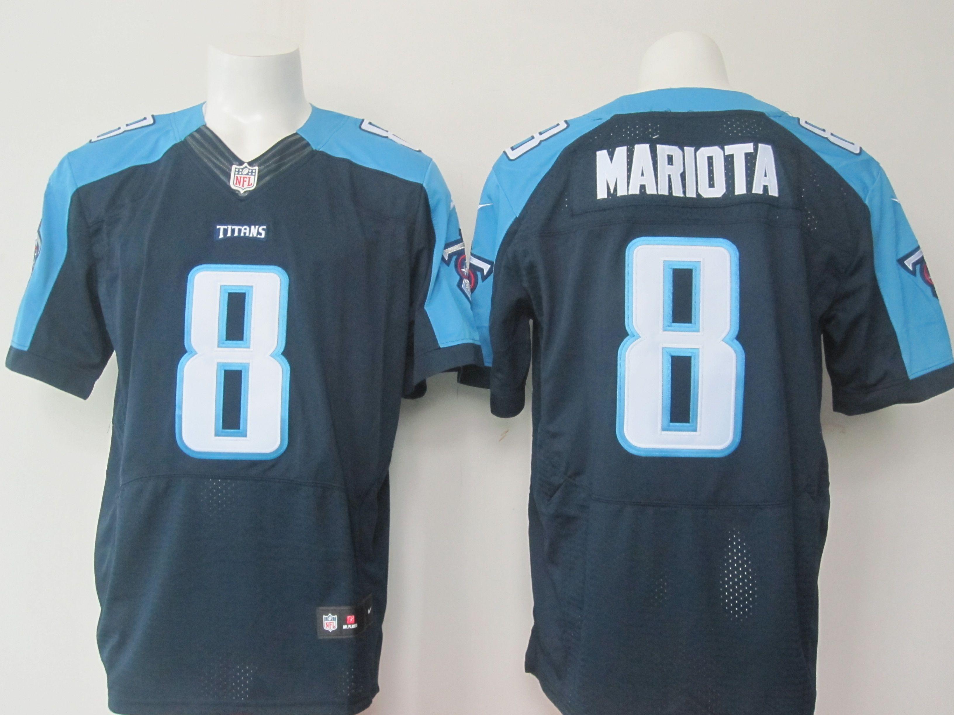 Nike Titans Marcus Mariota Navy Blue Alternate Men's Stitched NFL Elite  Jersey And Browns DeShone Kizer 7 jersey