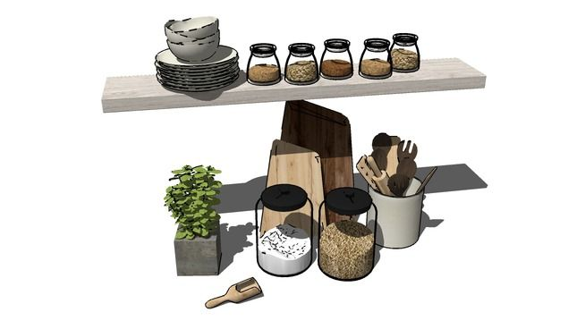 Nabor 01 3d warehouse sketchup soft decor for Modelli sketchup ikea