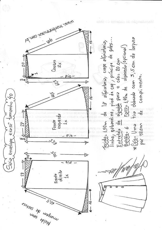 Pin de Yosi Aquino en Patrones | Costura, Patrones de costura y Moldes