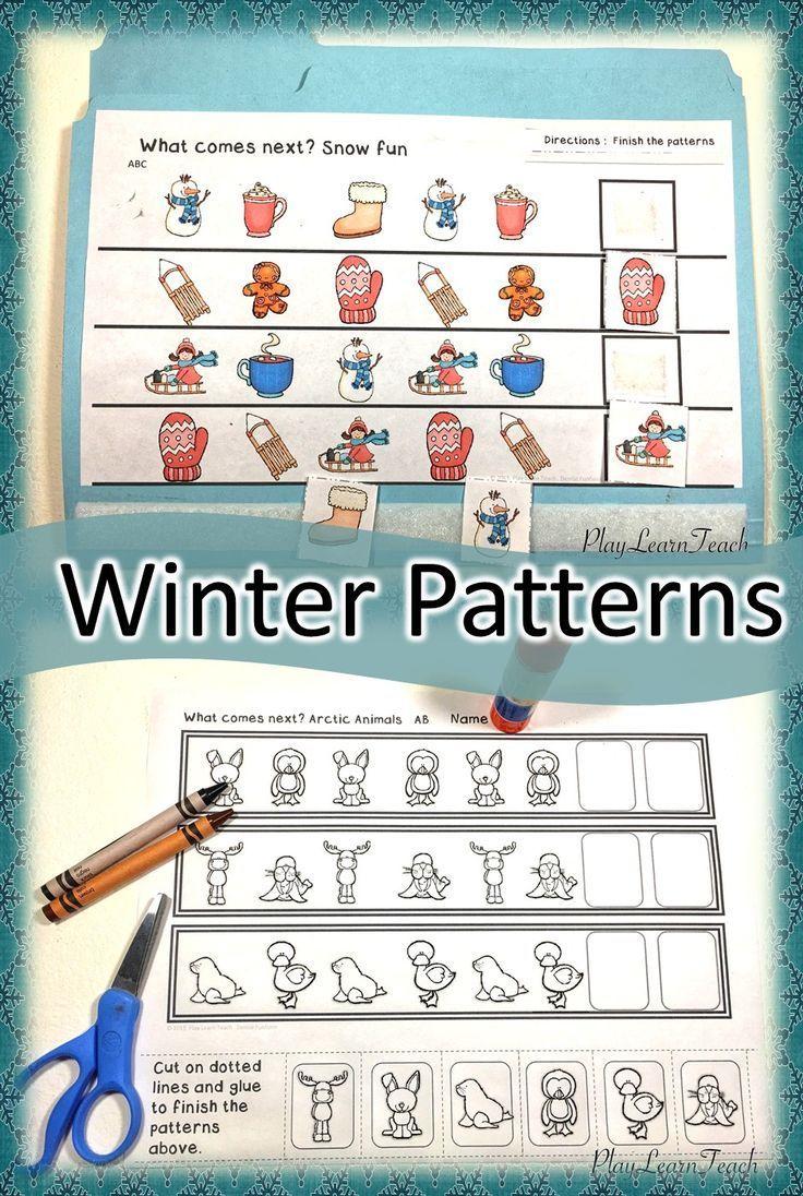 Winter Patterns | homeschool | Pinterest | Morning work, Math and ...