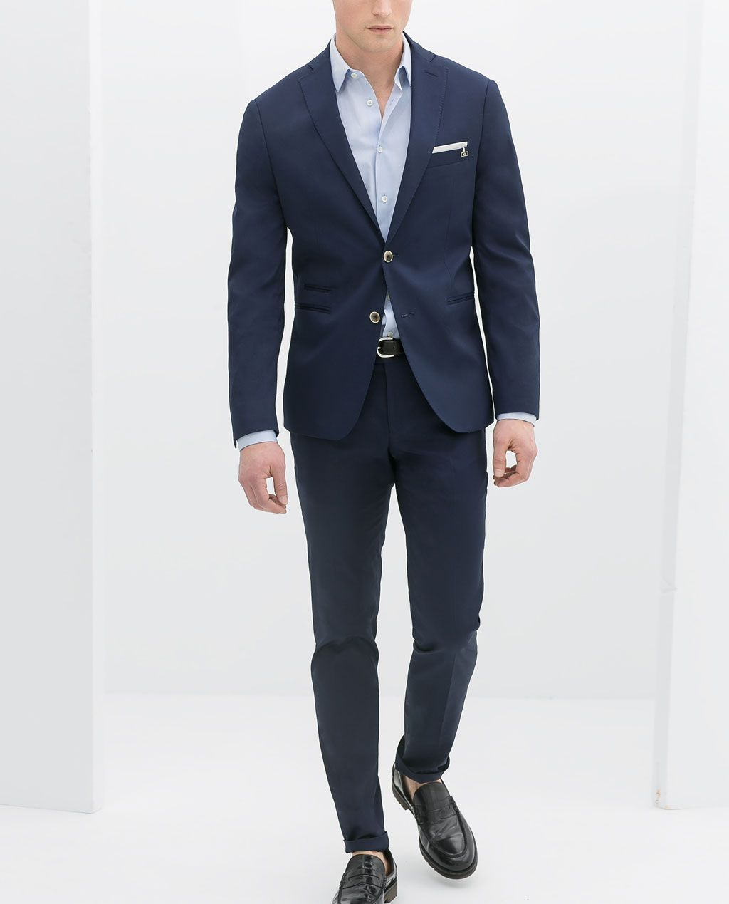 Image 1 of BLUE SUIT from Zara | All My insides outside ...