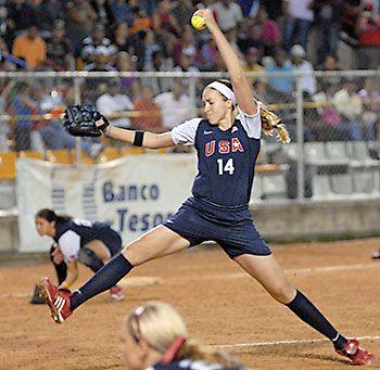 女子ソフトボール選手まとめ。モニカ・アボット選手。