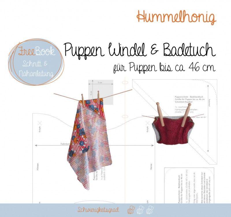 obleček pro panenky, střih a návod, Puppen WIndel und Badetuch   DIY ...