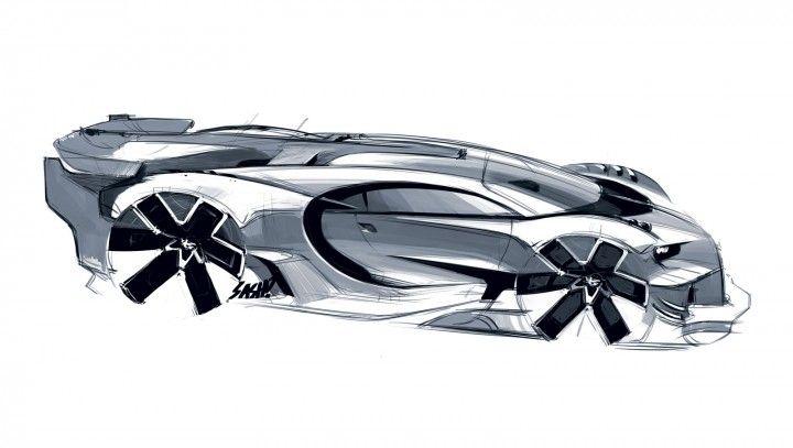Bugatti Vision Gran Turismo Concept Design Sketch