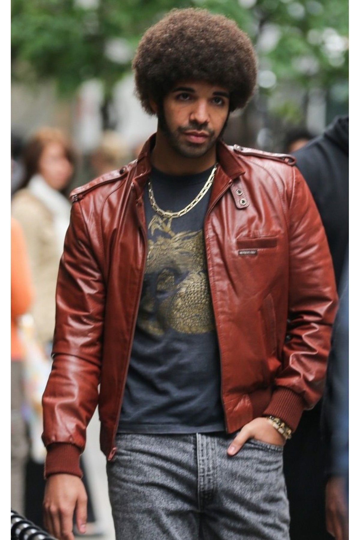 Anchorman 2 The Legend Continues Drake Leather Jacket Celebrities Leather Jacket Celebrity Jackets Leather Jacket [ 1800 x 1200 Pixel ]