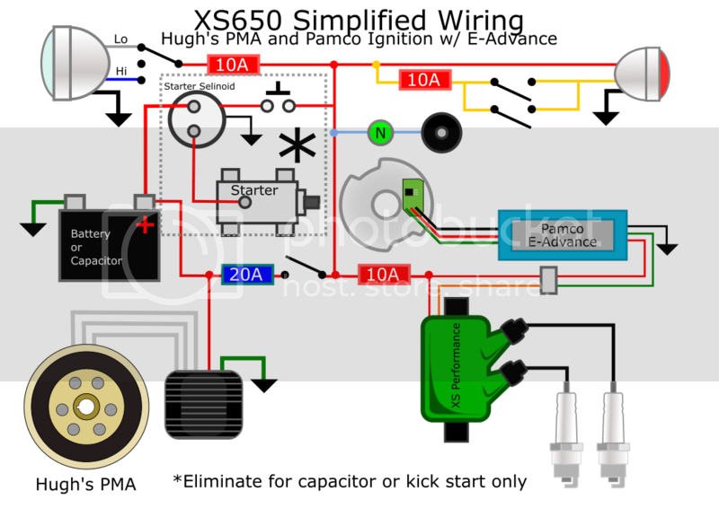 Click this image to show the full-size version. | Xs650, Motorcycle wiring,  DiagramPinterest