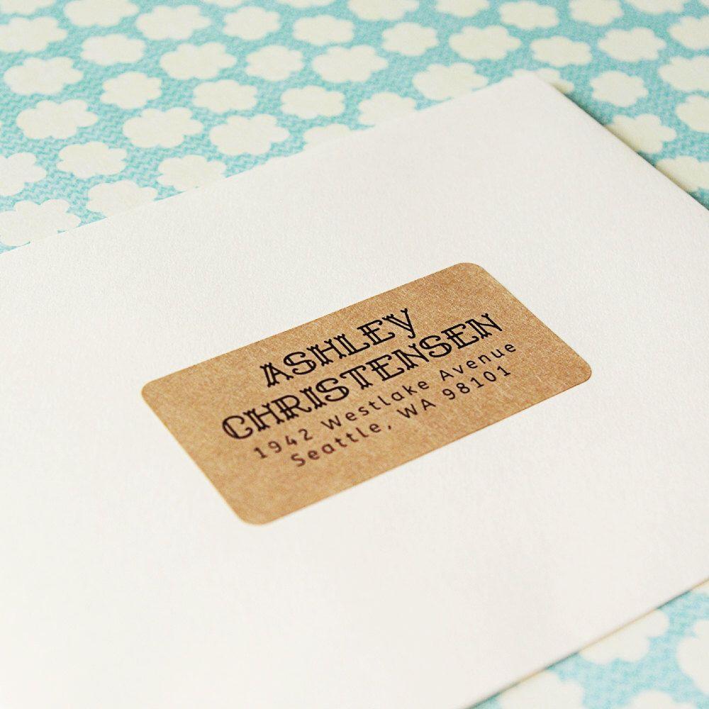 custom printed return address labels design 05 decorative text