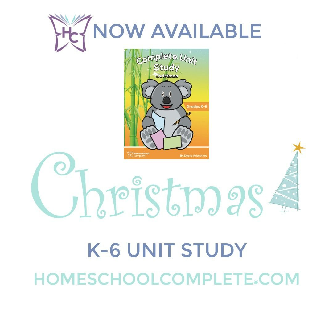 Homeschool Complete Unit Study Christmas With Images