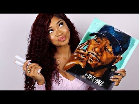 Draw With Me Ep 4 Bryson Tiller True To Self By Bri Hall Youtube Bri Hall Bryson Tiller Portrait Tutorial