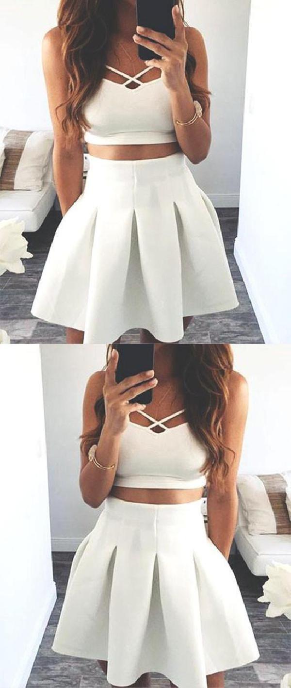 Hot sale admirable prom dresses white prom dresses short prom