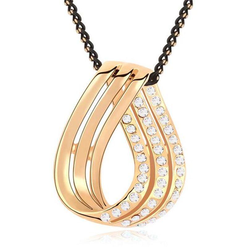 Кристалл узел подвески и ожерелья друга и подруга ожерелье любовь ювелирные изделия для пар из кристаллов сваровски 4 цветов купить на AliExpress
