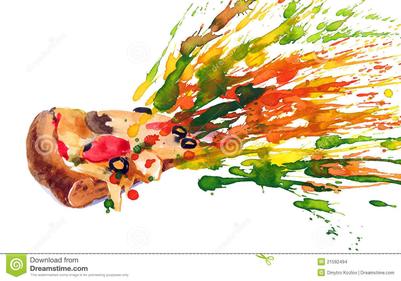 Pizza Abstract Art