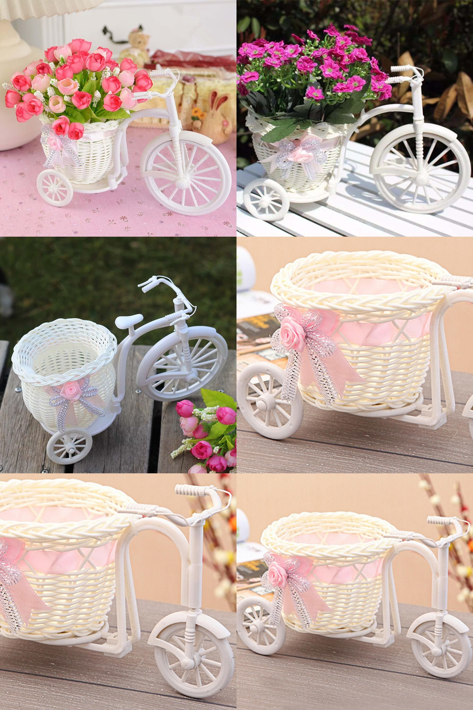 Visit To Buy Wedding Party Decoration White Plastic Tricycle Bike