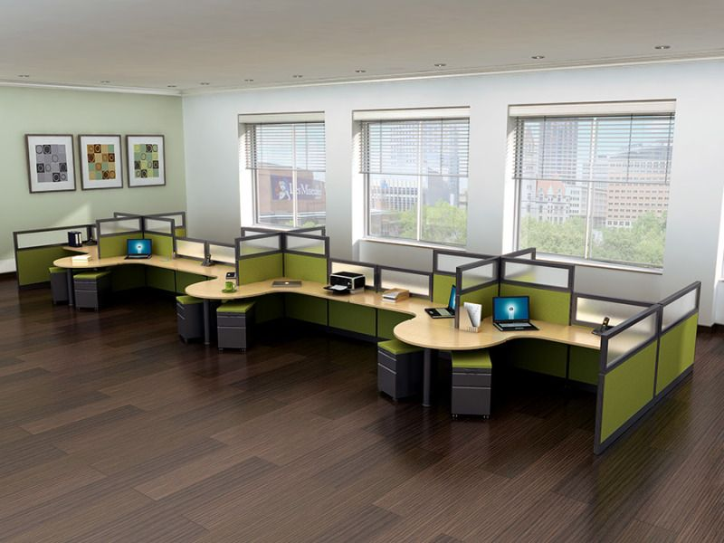 Office Design Ideas For Work innovative interior design ideas for offices 2014office design Refurbished Office Cubicles This Is A Popular Cubicle Set Up For Companies Wanting Open