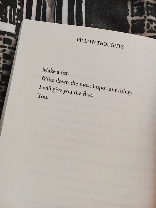 poem from pillow thoughts thoughts