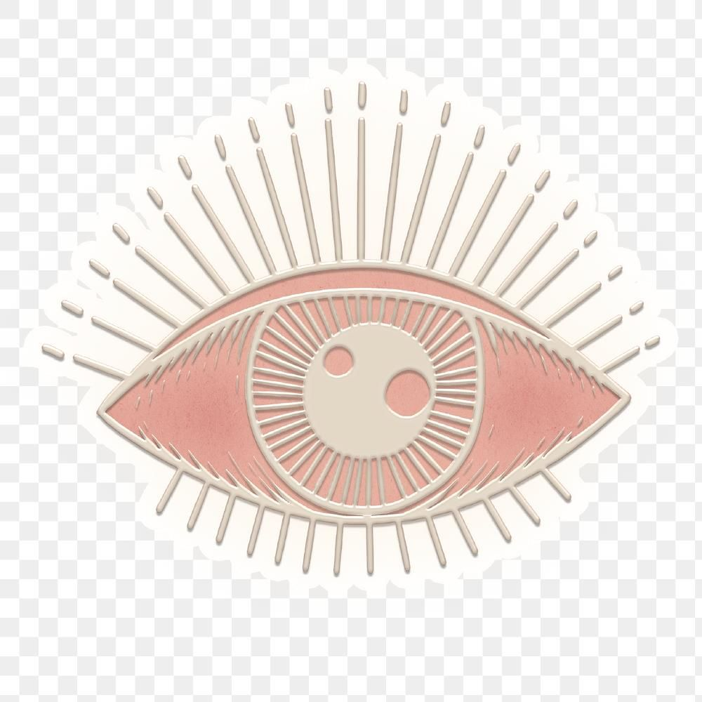 Evil Eye Outline Sticker Design Element Free Image By Rawpixel Com Katie Sticker Design Eye Outline Design Element