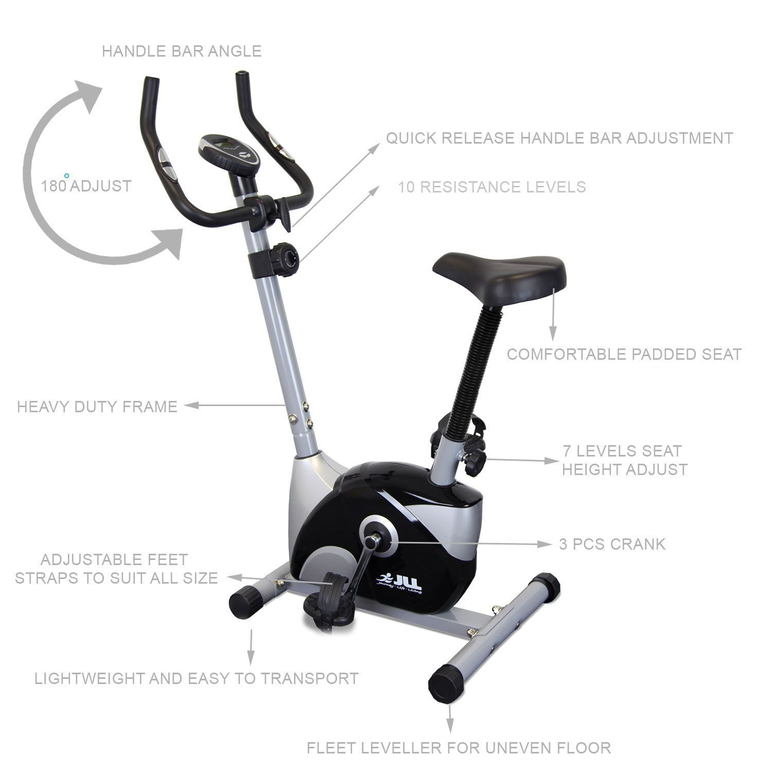 JF100 Home Exercise Bike The JF100 perfect beginners exercise bike ...