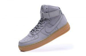 buy popular a873f d164f Mens Womens Nike Air Force 1 High WB GS Suede Medium Grey Black Gum Light  Brown Medium 922066 002 Running Shoes