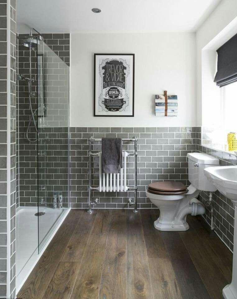 Gray Subway Tile Bathroom Inspiration Bathrooms Remodel Small Bathroom