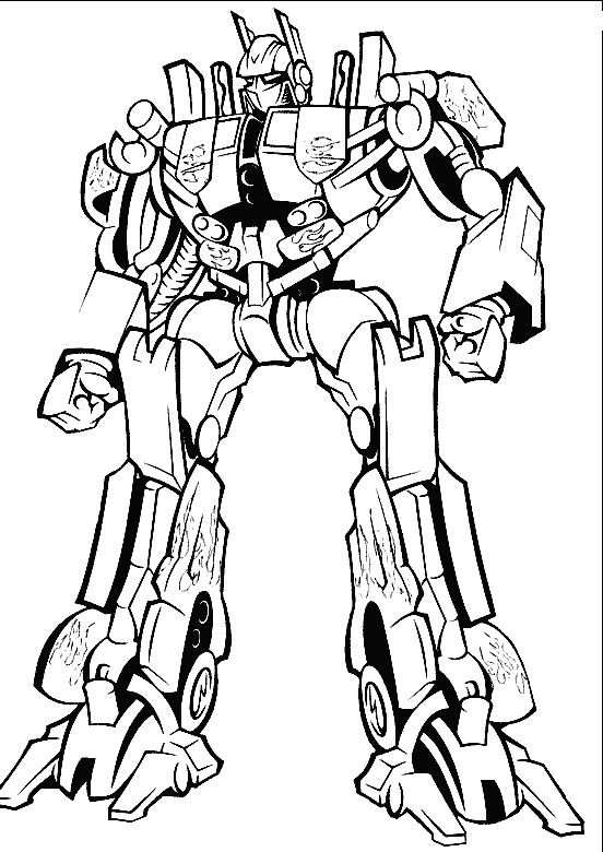 Optimus Prime Transformers Coloring Pages | Colouring pictures ...