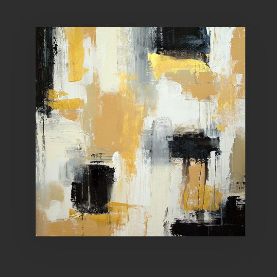 Art Painting Black And Gold Original Abstract Acrylic Painting Titled Top Shelf 30x30x1 5 By Ora Birenba Abstract Painting Acrylic Abstract Abstract Painting
