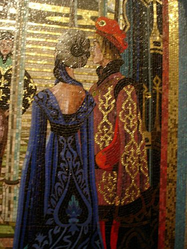 Scharff and Scharff at Disney-Castelo da Cinderela-8 by Cecilia Martins Mosaicos, via Flickr- thank you, Cecilia, great recording of great (one of the greatest in the country imo, mosaics)