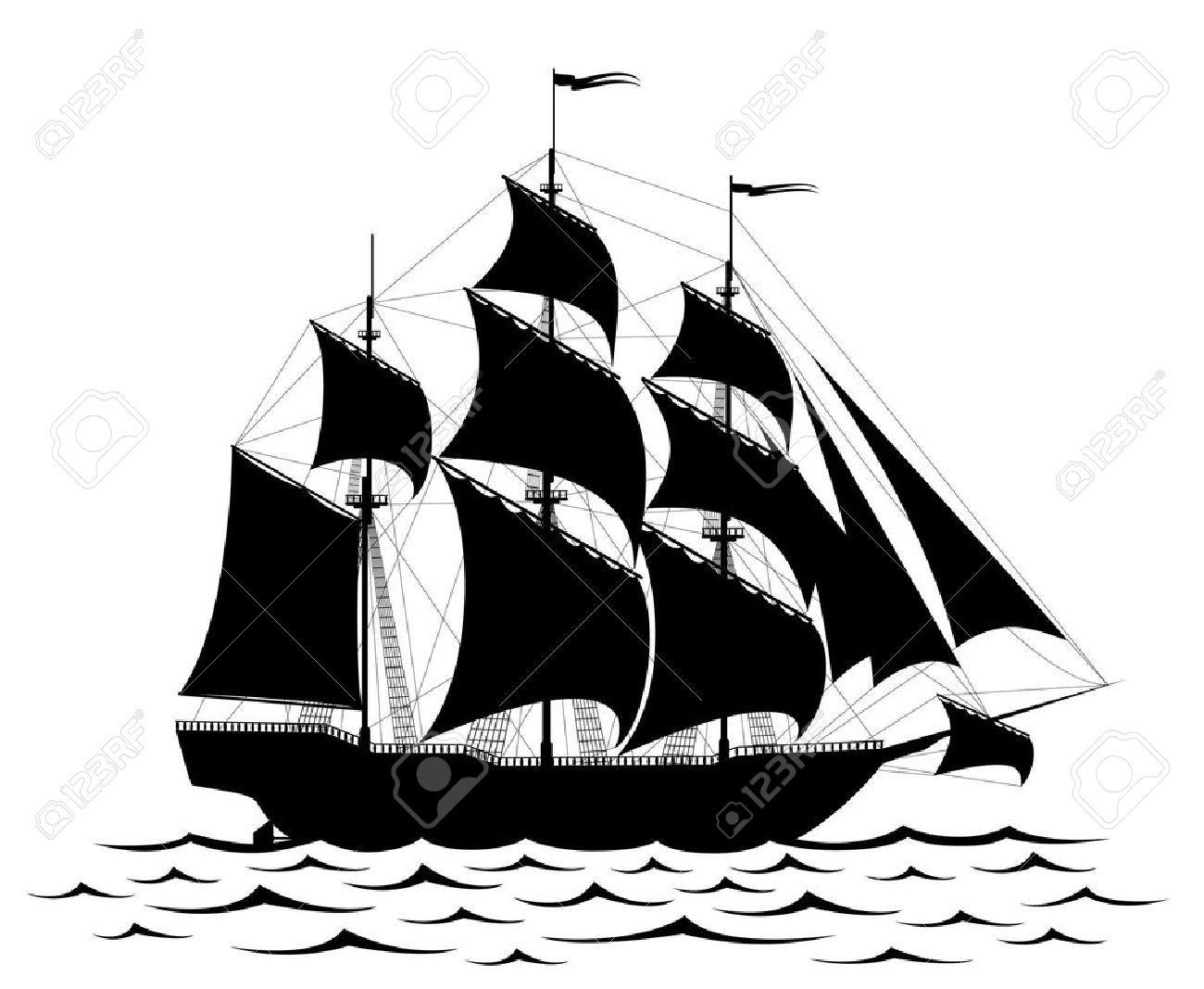 sailing ship silhouette Google Search Ship silhouette