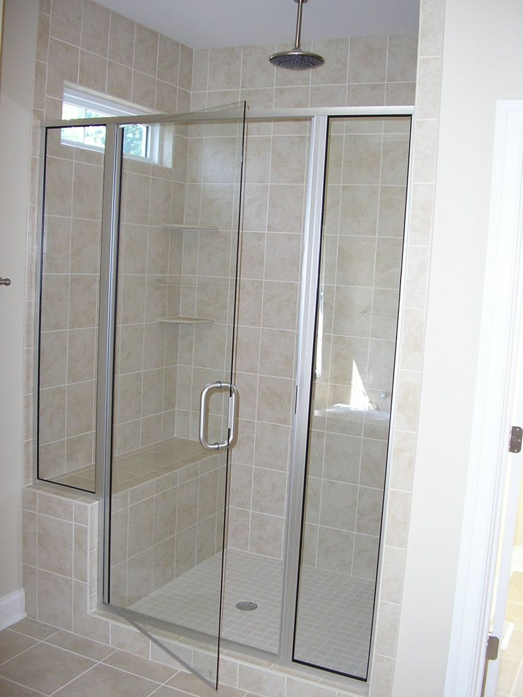 Framed Shower Doors Semi Frameless Shower Doors Bathroom Remodel
