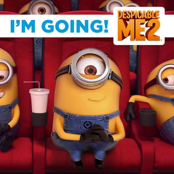 SHARE this special invite from Stuart the Minion: Come with me to see the movie! xoxo Stuart