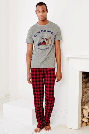 8a4d6635ab Buy Red Slumber Jack Fleece Bottoms Set from the Next UK online shop ...