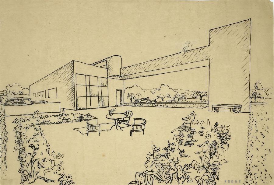 Fondation Le Corbusier - Projects - Maison de week-enfRambouillet, France, 1922