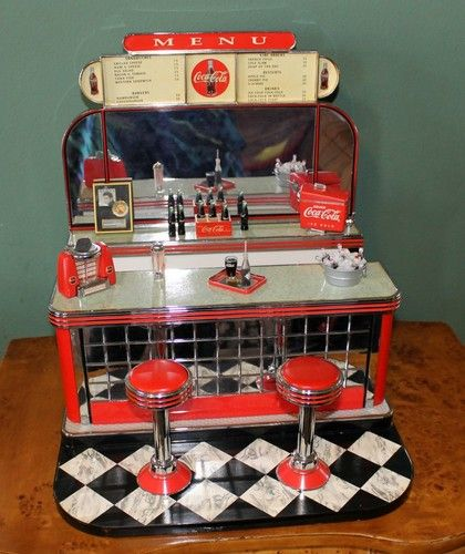 Coca Cola Barbie Soda Fountain Collectible Diorama By