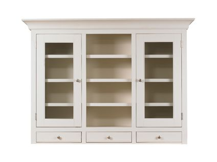 Hartham large glass display unit - top only in cream | Hot offers Furniture | Harveys