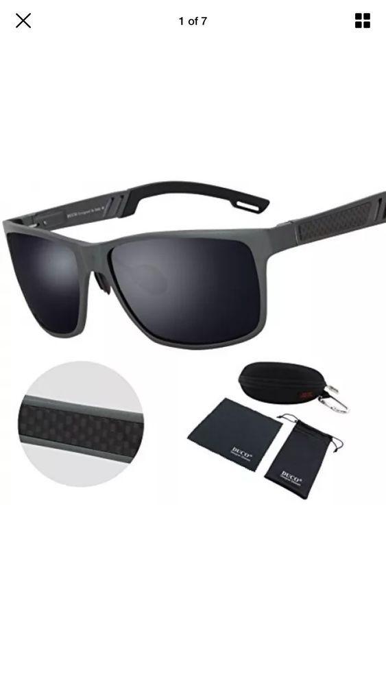 Duco 2217 Men s Sports Style Polarized Sunglasses Driver Glasses Gunmetal  Frame   eBay ea8b63039e9b