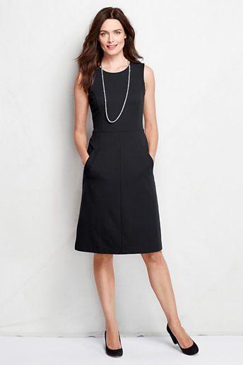 Women's Tall Sleeveless Ponté Sheath Dress with Pockets ...